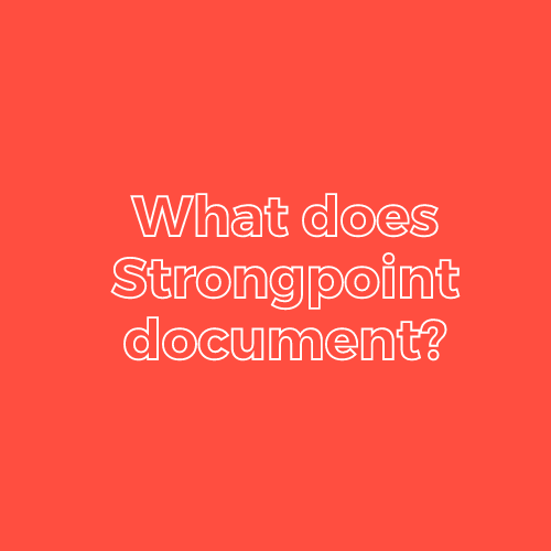 What Does Strongpoint document?-2