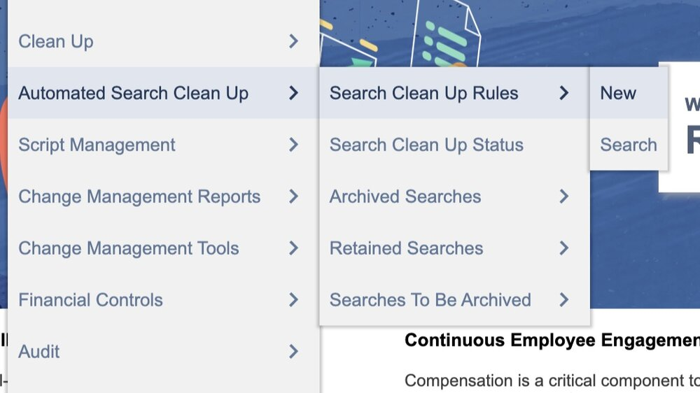 Creating a cleanup rule -