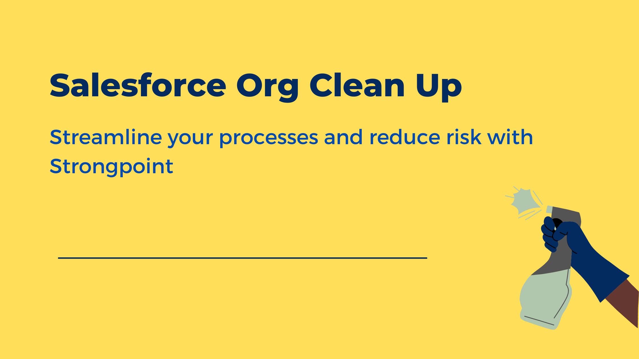 SF Org Clean Up